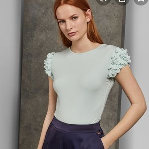 TED BAKER nwt Blere Floral Sleeve Blouse
